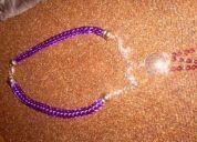 Espectaculares collares lila y collares sencillos y novedosos