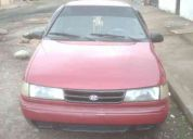 Vendo hiunday excel año 94 color vino y placa de pichincha