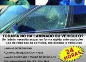 Venta laminas de seguridad para todo vehiculo con garantia