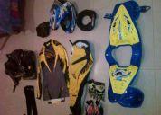 Equipo de motocross completo con botas semi nuevas. 650 todo..
