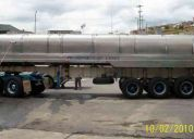 Vendo trailer termo tanque en acero inoxidable