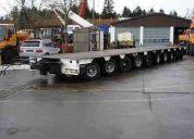 trailer modular  de 10 líneas capacidad 100 ton.