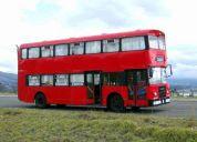Vendo bus rojo  turistico de dos pisos clasico ingles