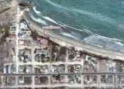terreno con casa al pie del mar en ballenita -- beach front lot with house in ballenita - beach fron