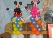Decoración en globos para fiestas infantiles, quinceaños, matrimonios, locales comerciales