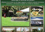 Fiestas de quito, navideÑas, empresariales y particulares, bodas eventos quinta la guajira