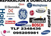 Servicio garantizado de reparacion de electrodomesticos lavadora secadora refrigerador coc
