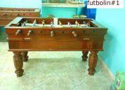 Reparacion de mesas de billar, billas, futbolines.