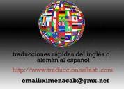 Traducciones flash de toda clase de documentos del español a inglés o alemán.