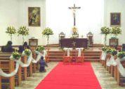 Decoracion de iglesias para matrimonios