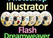 Curso photoshop illustrator flash dreamw plantillas montajes