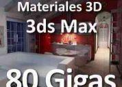 3ds max 3d studio modelos 3d materiales texturas bloques 3d