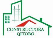 Empresa constructora, qitobo,  ofrece sus servicios en imbabura y el resto del pais