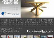 Arquitectura comercial, stands, showrooms, shops, islas comerciales