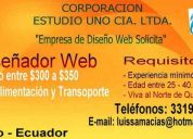 Empresa de diseÑo web necesita urgente diseÑador