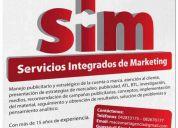 Sim servicios integrados de marketing y publicidad