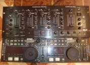Denon 9000 + mixer american audio q-spand pro