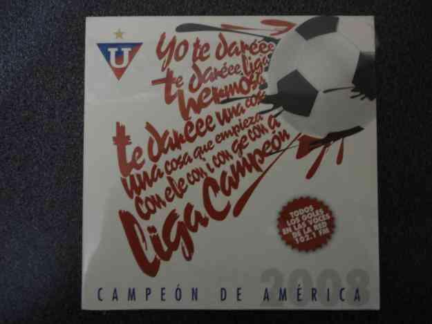 CD LIGA CAMPEÓN DE AMÉRICA 2008 NUEVO Y SELLADO.