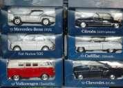 Vendo 3 colecciones a escala 1 de 15 autos inolvidables, 12 taxis del mundo y 12 motos mit
