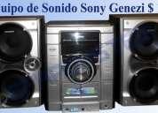 Equipo de sonido sony genezi $ 165