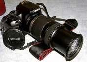 Canon eos rebel 450d 12mpx + lente canon 75-300mm + sd 4gb
