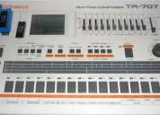 Caja de ritmos roland tr-707 !! con modificación única para cambiar sonidos.