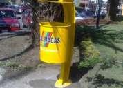 Basureros urbanos y peatonales
