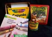 Set clásico de 64 crayones marca crayola no toxicos con sacapuntas