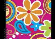 Cuaderno polibook flores