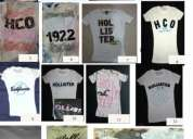 Camisetas hollister y abercrombie