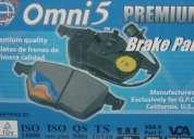 Pastillas de freno omni5, de las mas vendidas en usa, para chevrolet, hyundai. kia........