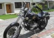 Flamante moto tipo harley