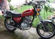 Como nueva moto suzuki gn-125 aÑo 2008 color roja