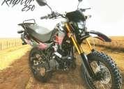 moto tundra raptor 250cc, barra invertida, freno: disco / disco