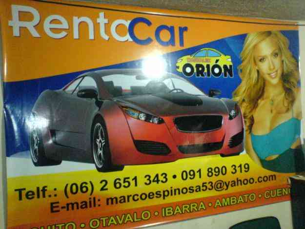 RENTA CAR ORION MARXALEX
