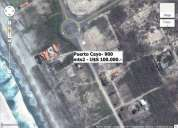 Se vende espectacular terreno de 900mts2 - al pie del mar - u$s 100.000.- puerto cayo -
