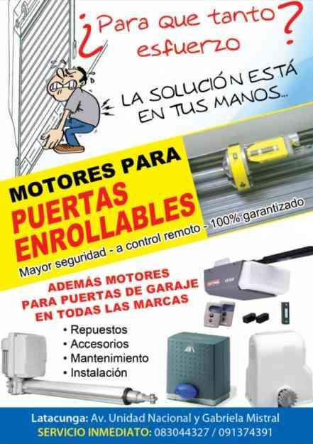 Puertas automaticas en latacunga motores para puertas enrollables y de garaje latacunga - Motor de puerta de garaje ...
