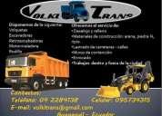 Alquiler de volquetas y maquinaria para la construccion volkitrans - serv. de transporte