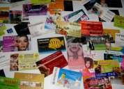 tarjetas de presentación 1000 por $25,00 full color promoción
