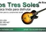 Trio los tres soles de ecuador busca guitarrista y cantante