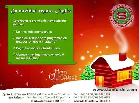En navidad regala Inglés con STANFORD