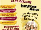 Campamentos vacacionales inglés + actividades recreativas