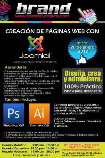 Curso de Joomla, Diseño Gráfico, Páginas Web