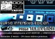 Curso intensivo ediciÓn para televisiÓn