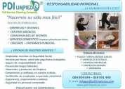 Servicio domestico, limpieza para empresas