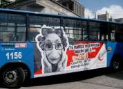 Publicidad en buses en todo el ecuador