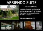 Arriendo suite a una sola persona en cumbayÁ