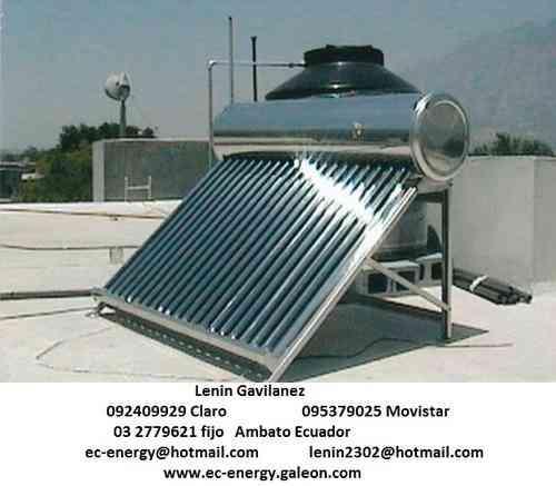 Calentadores de agua solar paneles solares termicos - Calentar piscina solar ...