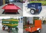 Fabricantes trailers remolques carretones