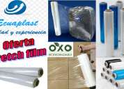 Oferta de plastico stretch film, fundas y rollos biodegradable